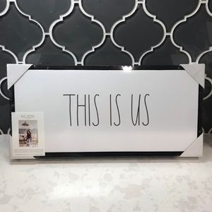 "🤍Rae Dunn🤍 ""This Is Us"" home decor sign"